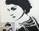 Gabrielle Bonheur Coco Chanel No. 5 Print from Original Charcoal Drawing