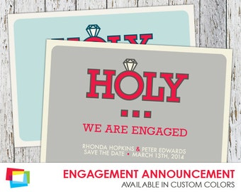 Engagement Announcement Cards 7x5