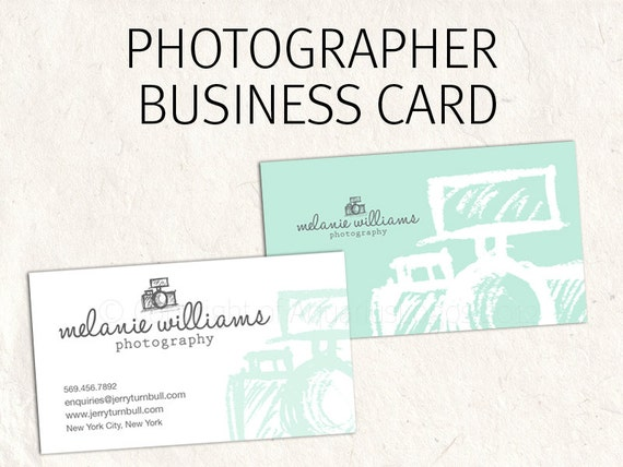 graphy business card design for photographer mint