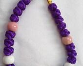 Handmade Macrame Bracelet w/ Ceramic Beads, Chinese Macrame, Macrame Bracelet, Knotted Jewelry, Cord Bracelet, Chinese Macrame Bracelet