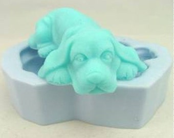 Puppy Dog Flexible Silicone Mold Silicone Mould Candy Mold Chocolate Mold Soap Mold Polymer Clay Mold Resin Mold R000