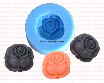 Rose Flower Flexible Silicone Mold Silicone Mould Candy Mold Chocolate Mold Soap Mold Polymer Clay Mold Resin Mold F0040