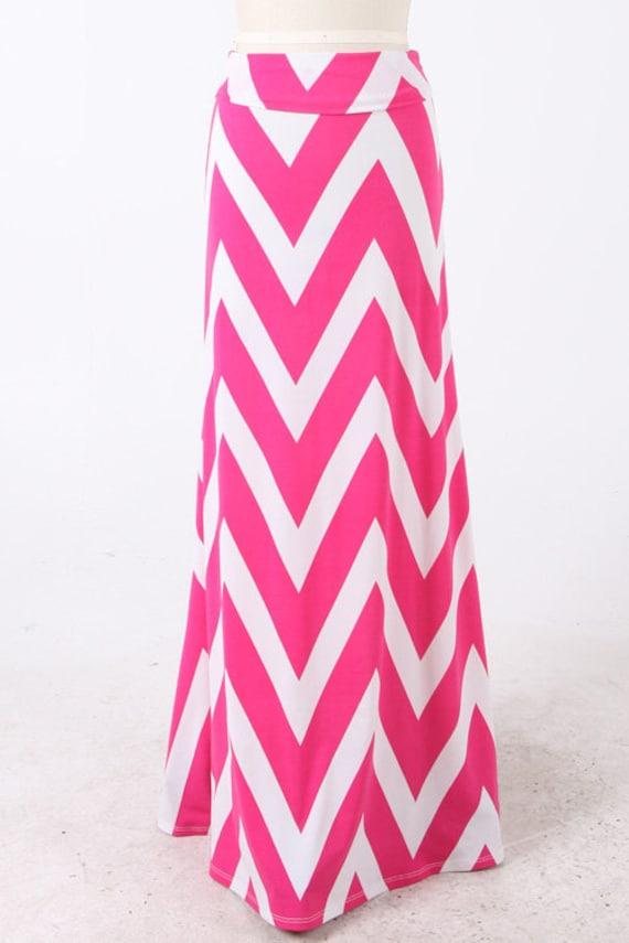 maxi skirt dress chevron fuchsia amp white zig zag pattern