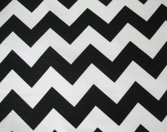 Riley Blake -  Black Chevron - 1 yard