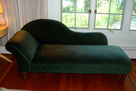 Antique fainting couch or chaise by sprucecreekvintage on etsy for Small fainting couch