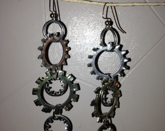 Metal Lock Washer Earrings