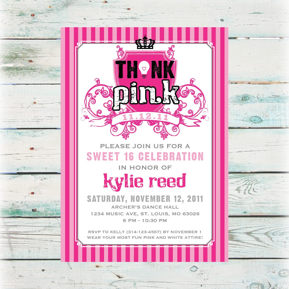 This is a photo of Clever Free Printable Sweet 16 Invitations