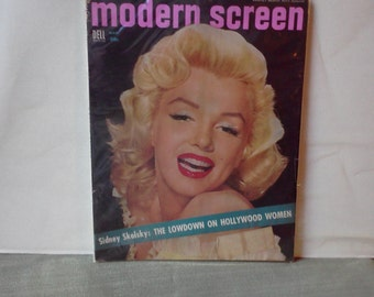 Rare Marylin Monroe Vintage Modern Screen Dell Magazine Mar.1954 Edition Jerry Lewis Lucy & Dezi Arnaz