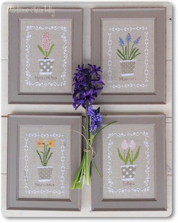 cross stitch pattern bulbes de printemps. Black Bedroom Furniture Sets. Home Design Ideas