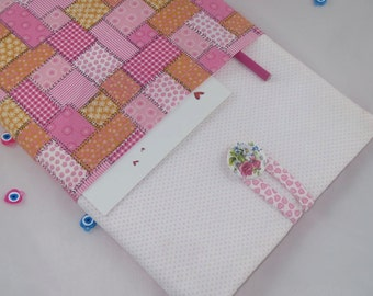 iPad air case with pocket, iPad air  sleeve, iPad 2 case, iPad 3 case, iPad 4 case, iPad 2 sleeve, iPad 3 sleeve, iPad 4 sleeve-Patchwork