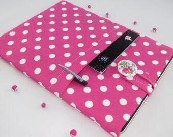 11 inch Laptop Case, Chromebook Case,11 Inch Laptop Sleeve, Laptop Cover, Laptop 11 Case Surface Laptop Sleeve - Pink Polka Dots