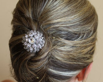 Crystal Bridal Hair comb, Vintage style Wedding Hair Accessories, Crystal Bridal Hair Piece AIMEE