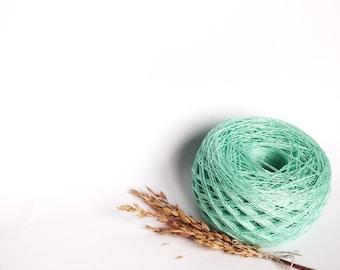 Mint Linen Yarn, #024 High Quality, Linen Yarn For Crochet, Knitting, 100 g/ 3.5 oz
