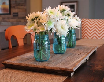 Pallet Tray, Weathered Wood Centerpiece