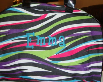 Multi Colored Canvas Bag Personalized with Name  FREE SHIPPING!