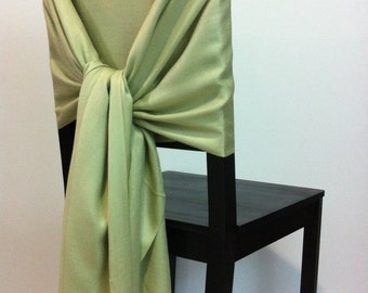 LIGHT OLIVE PASHMINA, Pashmina Scarf, Pashmina Shawl, Wedding Shawl, Pashmina Wrap, Bridesmaid Shawls, Wedding Favors,  Olive Chair Covers
