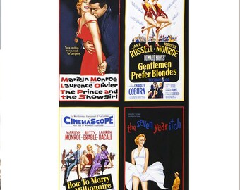 Radio Days from Hollywood Icons Movie Posters Fabric Marilyn Monroe by Robert Kaufman by the Panel