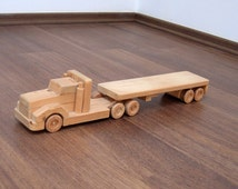 Flavia, the flat bed wood truck - a waldorf wooden toy truck, children's pretend play and toy collector's item