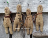Primitive Handcrafted Stick Arm Snowman Ornies--Folk Art--Winter-Christmas in July--Hafair team, FAAP