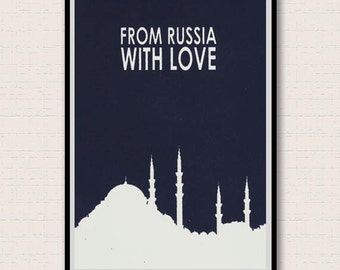 From Russia With Love. James Bond Inspired Giclee Print