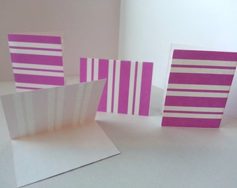 Set of 4 - Purple Striped Folded Gift Tags