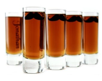 Groomsmen Gift Mustache Shot Glass