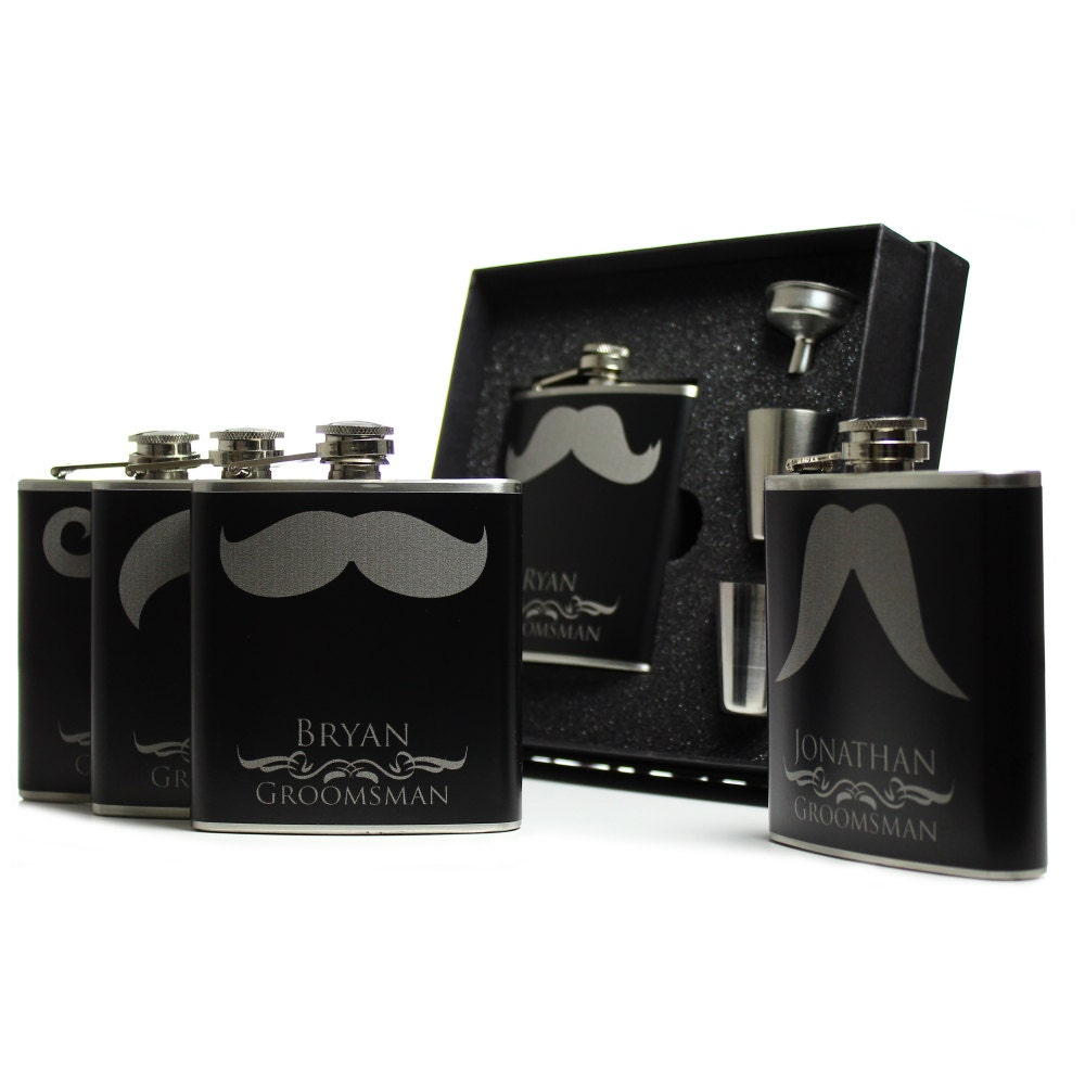 Personalized Groomsmen Gift Stainless Steel Flask