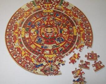 "Round Jigsaw Puzzle ""Mayan (Aztec) Calender"""