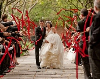 100 wedding wands quadruple streamers custom order for cgroyal1