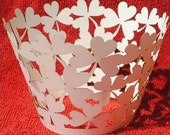 24 pieces Cupcakes Wrapper Laser Cut Tree Heart Leaves high quality