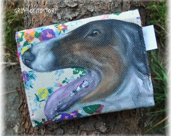 WALLET with BORZOI