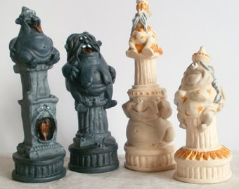 Items Similar To Chess Set Pirate Chess Set Handmade On
