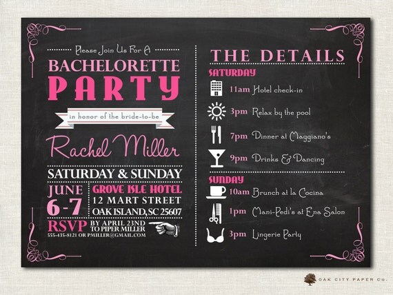 Bachelorette Invitation Party