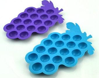 17-Round Grape Ice Tray Ice Mold Flexible Silicone Mold diy Mold in Handmade