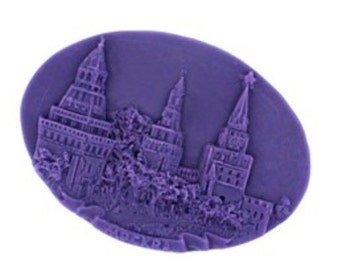 Oval Castle Chocolate Mold Flexible Silicone Cake Fondant Mould For Handmade Soap Candle Icing Chocolate Fimo Resin Crafts