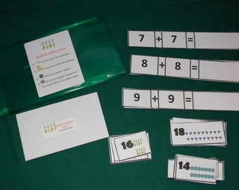 Doubling Addition Facts-Teacher Made Math game-Classroom center-Educational resource tool-file folder game-learning activity-independent