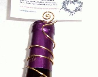 Set of 5+ Wire Wine Bottle Table Number Holder, Champagne Bottle Table Number Holder, Wire Table Number Holder, Wedding Place Card Holder