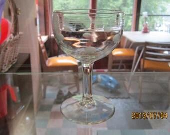 1960,s vintage wine glass
