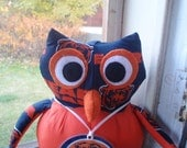 ChICago BEars stuffed owl orange and navy football Bears fan collectible