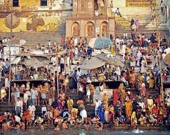 """Varanasi, India. 7""""x10"""" archival print signed and matted in 11"""" x 14"""" matte"""