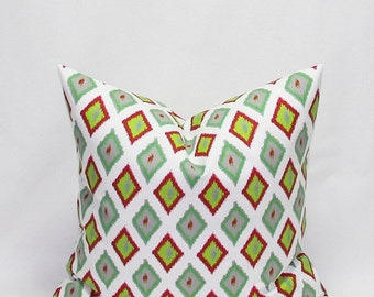 Green Pillows 16 x 16 Inches Christmas Pillow Covers Decorative Throw Pillows Red and Green Holiday decor