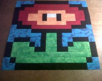 Mario Fireflower Pattern Wall Hanging