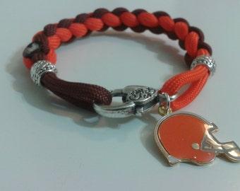 Cleveland Brown Paracord Bracelet