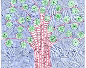 Pen & Ink Tree Print