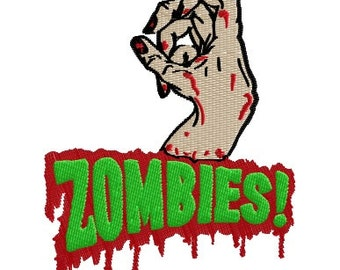Instant Download Zombies Machine Embroidery Pattern