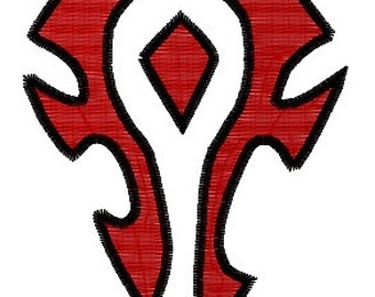 WOW Horde Machine Embroidery Pattern