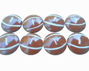 Custom Football Sports Hand Painted Drawer Pulls Knobs