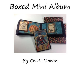 Boxed Mini Album Pattern with video tutorial link