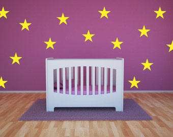 "Star vinyl wall decal stickers 4"" stars custom colors  - 12, 24 or 36 stars"