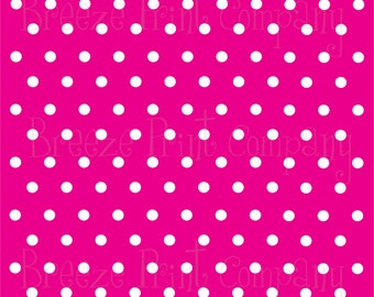 Magenta with white polka dots craft  vinyl sheet - HTV or Adhesive Vinyl -  hot pink polka dot pattern   HTV9